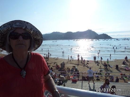 Silken Amara Plaza Hotel : Beach at San Sebastian