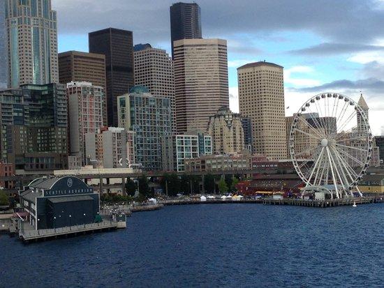 Grand Hyatt Seattle: Downtown Seattle from the sea...