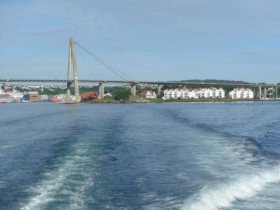 Lysefjord: Leaving Stavanger.
