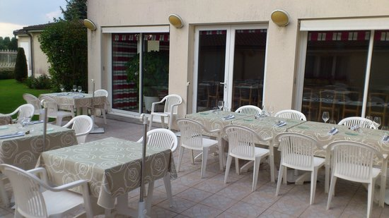 Beau Rivage: Terrasse