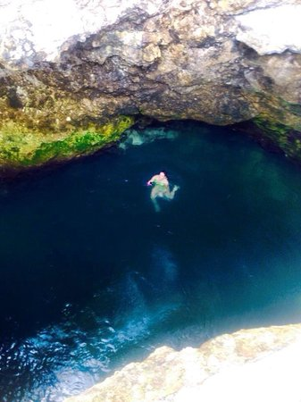 Blue Hole Mineral Spring : In the hole!