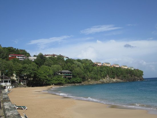 Sandals Regency La Toc Golf Resort and Spa : View from the beach