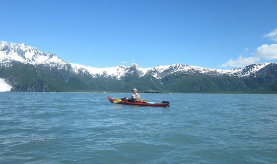 Kayak Adventures Worldwide: Our guide Nick at Aialik Bay