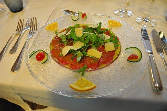 Grand Hotel Les Endroits: Petit aperçu du repas