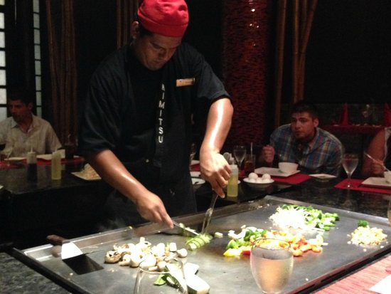 Secrets Maroma Beach Riviera Cancun: Table side Japanese restaurant show (reserve with your concierge ahead of time)