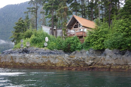 Dove Island Lodge: View from the boat on the way in from fishing