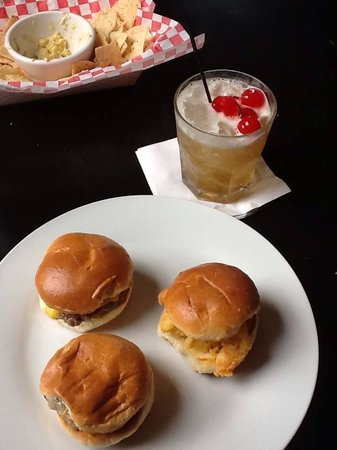 Private Property: Slider sampler with what is left of the Cajun corn dip