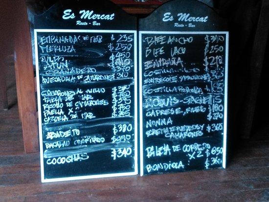 Es Mercat : Cárdapio