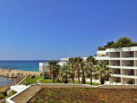 nhow Marseille Palm Beach : vue de la chambre, 2e étage