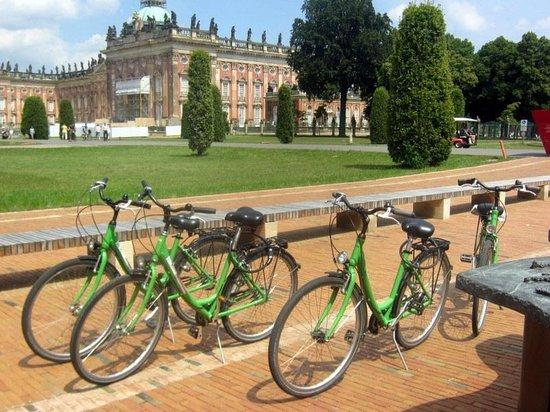 Neues Palais : Llegada en bicicleta