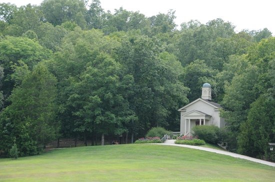 Chaumette Vineyards & Winery: View of church on vineyard