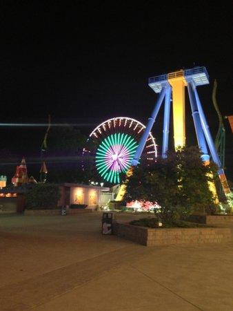 Beautiful Cedar Point at night time