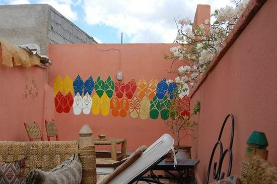 Hostel Riad Marrakech Rouge: Hostel Roof Terrace