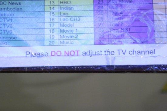 Souphaphone Guesthouse: On ne touche pas à la télé