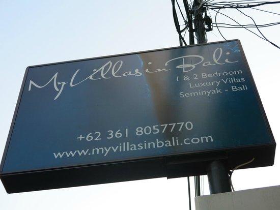 My Villas in Bali: Street Sign