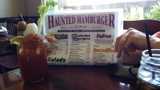 Haunted Hamburger: Menu