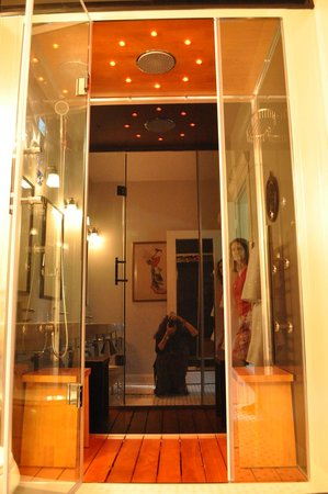Limestone House Bed & Breakfast: You Must Experience This Steam/Shower to Believe It