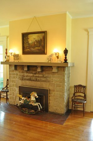 Limestone House Bed & Breakfast: A Great Limestone Fireplace Mantle Cut From Local Limestone Formations