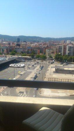 Expo Hotel Barcelona: Вид из окна
