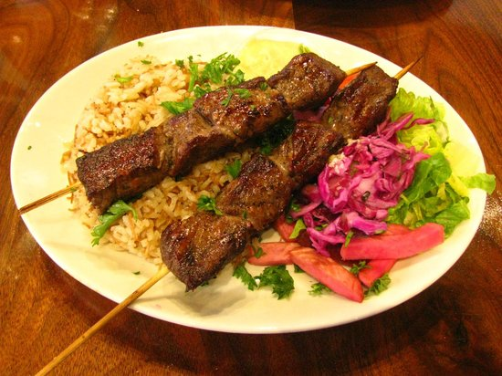 Beef kebabs picture of almadina woodstone oven grill for Almadina egyptian cuisine