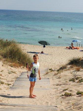 Angel Bay B&B Punta Prosciutto: accesso alla spiaggia