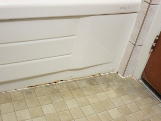 Siesta Motel: Floor needs caulking