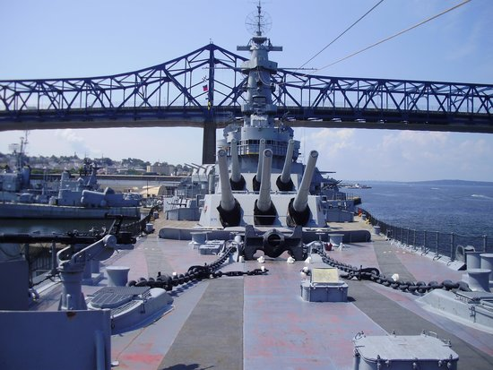 Battleship Cove: From the bow of the Battleship