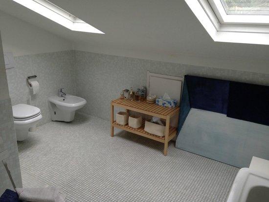La Stanza B&B : Nice bathroom but low ceiling