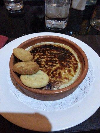 Mojos Bistro: my tia maria syllabub with peanut cookies