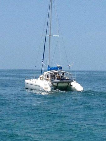 Paradise Found Sailing: Kit underway, hey, come bacccckkkkk