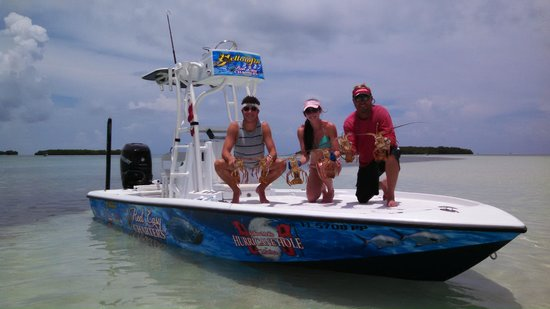 Key West Pro Guides: Lobster Limit on Reel Easy Charters with Capt John Jackson!