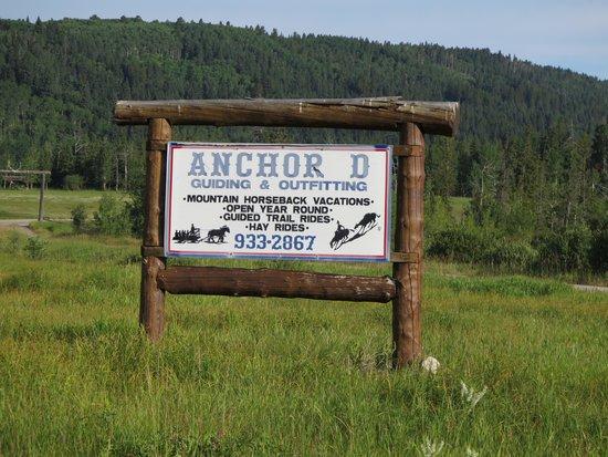 Black Diamond, Canada: Anchor D sign