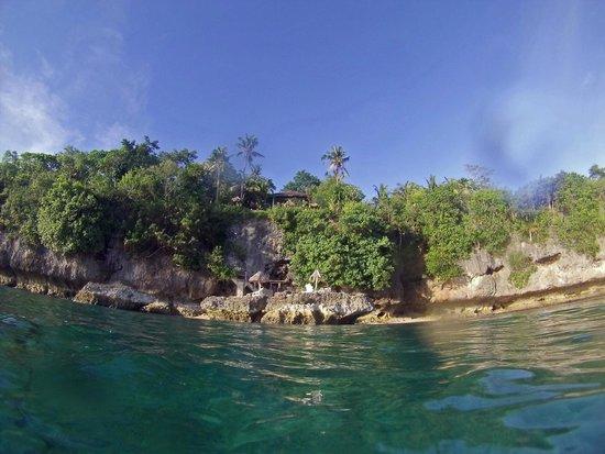 Bituon Beach Resort: View from the water.