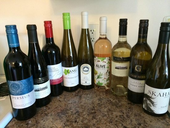 Penticton & Wine Country Visitor Centre: Some of the wines we picked up