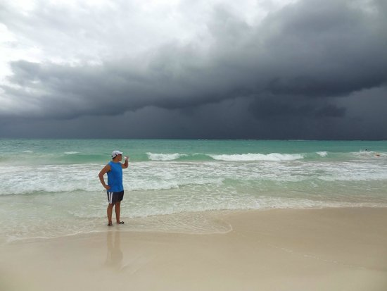 Secrets Maroma Beach Riviera Cancun: approaching storm on Maroma Beach