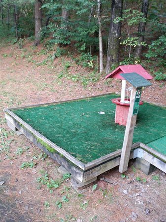 Yogi Bear's Jellystone Park Camp-Resort at Paradise Pines : Mini golf is run down