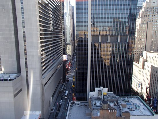 Row NYC Hotel: View from our room of Time Square