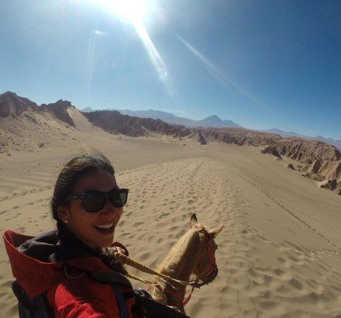 Valle de la Luna - Valle de la Muerte : Horseback riding to Valle de la Muerte