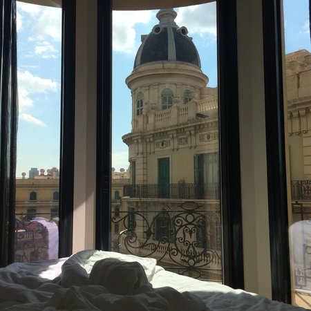 Hotel Ohla Barcelona: View from our top corner suite