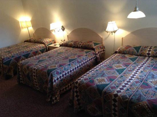 Wheels Motel : Room with 3 double beds