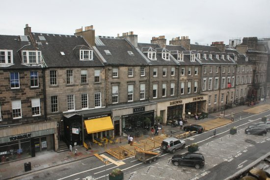 The Roxburghe Hotel : View from room on NW corner, 3rd floor