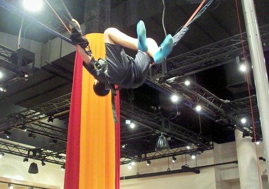 The Franklin Institute: Nathan doing flip