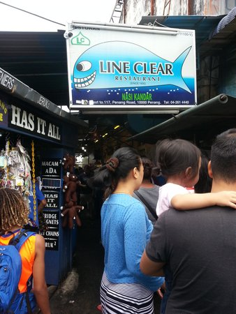 Nasi Kandar Line Clear: Line Clear stall