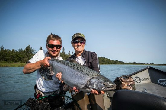 Alaska Fishing Lodge - Soldotna Bed and Breakfast Lodge: King Salmon #2 on the Kasilof River