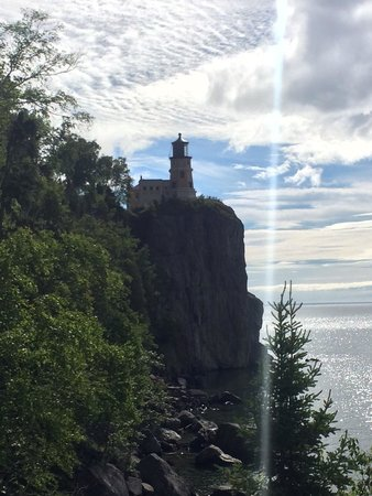 Split Rock Lighthouse: From a lookout along the trail