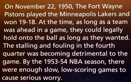 Basketball Hall of Fame : An early basketball rule