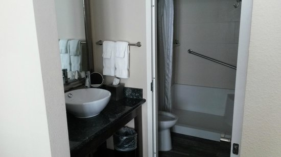 Best Western Plus Avita Suites : Bathroom with Separate Toilet and SHoer