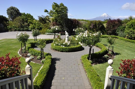 Villa Heights Bed and Breakfast: front garden