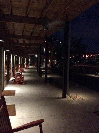 Lone Star Court at night