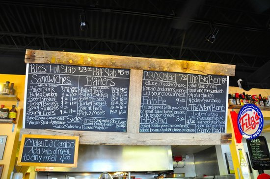 Pappy's Smokehouse: Pappy's menu board on Aug. 2, 2014